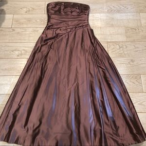 Carmen Marc Valvo Strapless Silk Blend Gown